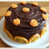 Narancsos csokitorta étcsoki ganache-sal
