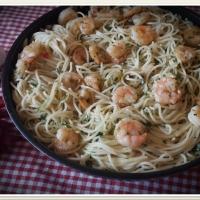 Fokhagymás garnélás spagetti