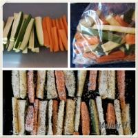 Parmezános, zöldfűszeres sült cukkini és sárgarépa